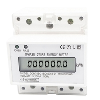 Single Phase 4P LCD Din Rail Electricity Power Consumption Wattmeter Energy Meter DDM75SC 5 100A 220V|  -