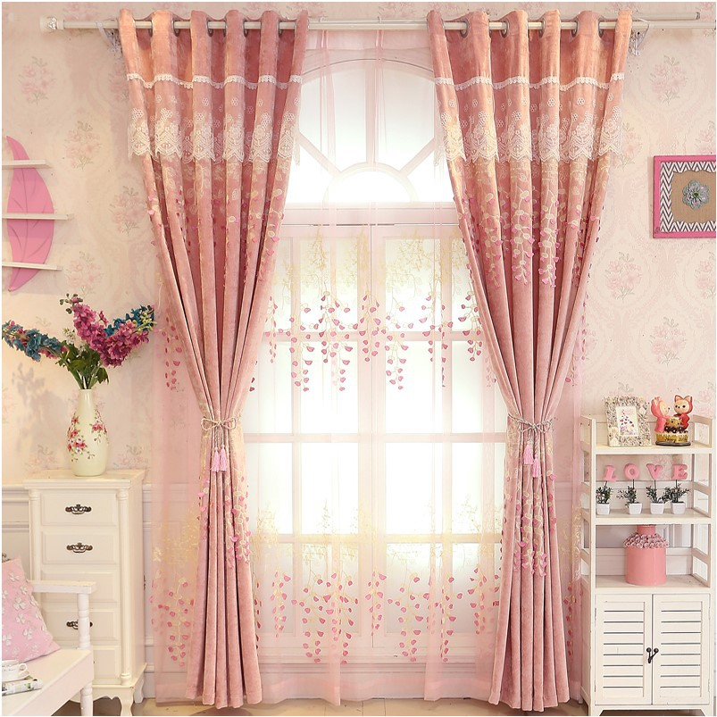 European Luxury Atmosphere Purple Shading Chenille Curtains For Living Dining Room Bedroom.