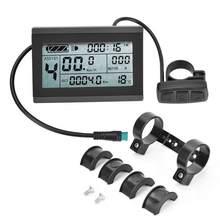 E-bike motor KT-LCD3 medidor de display lcd elétrico plástico com conector à prova dwaterproof água para modificação de bicicleta aplicar a kt-controlle