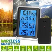 Digoo-estación meteorológica Digital LCD, higrómetro, termómetro, medidor inalámbrico, Sensor de pronóstico para interior y exterior, despertador, retroiluminación