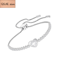 High-quality SWA new exquisite heart-shaped, female clavicle chain fashion designer Charm Chain Bracelet