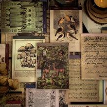 Papier pour horodatage plantes, 60 pièces, matériel d'écriture, planificateur de Journal intime, papier de fond artisanal décoratif Vintage pour Scrapbooking, bricolage