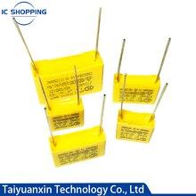10 Uds 275VAC condensador de película de polipropileno X2 0,01, 0,1, 0,15, 0.022, 0,22, 0,33, 0,47, 0,56, 0,68, 1,2 uf 104K 1uf corrección condensador