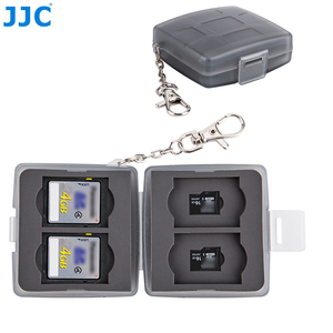 Image 1 - JJC Speicher Karte Fall 4 SD + 4 TF Kamera Mini Compact Tough Halter Wasser Beständig Lagerung Karten Box
