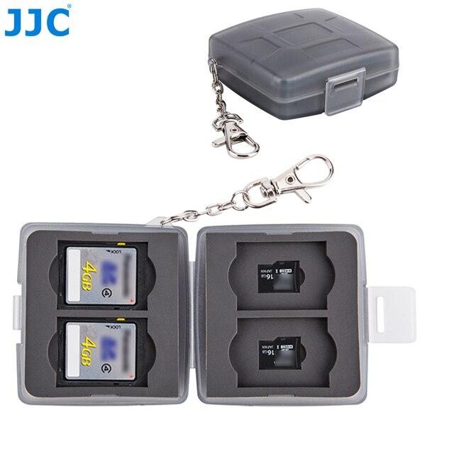 JJC Speicher Karte Fall 4 SD + 4 TF Kamera Mini Compact Tough Halter Wasser Beständig Lagerung Karten Box