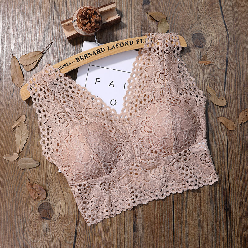 Women Tank Top Bra Sexy Lace Floral Cami Bralette Crochet Vest Crop Top