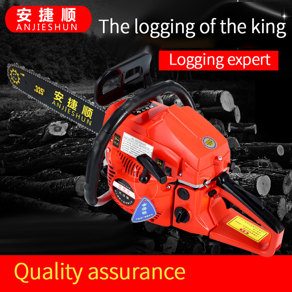 Anjieshun Gasoline Chain Saw 2 Stroke Gasoline Engine 2800W 26 Inches Distance Chain Saw Log Saw Bamboo Root Carving Chain Saw
