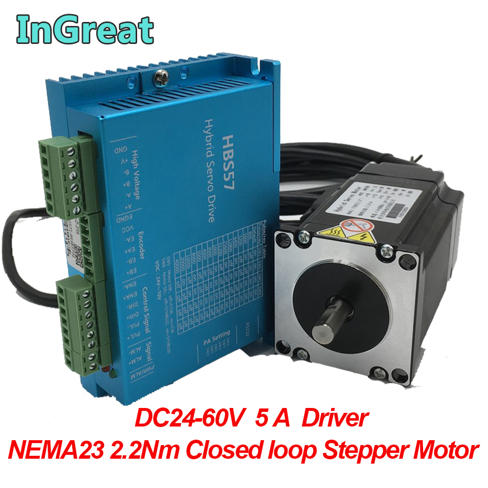 EU SHIP】Nema23 closed loop stepper motor 2.8N.m 4A servo