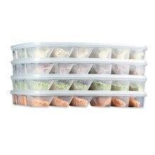 Food Grade Plastic Dumpling Box With Single Layer 18 Lattice Dumplings Sushi Bread Storage Good Sealing Suitable for Microwaves