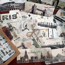 30 шт/лот Ретро путешествия серия Европейская Архитектура Винтажный