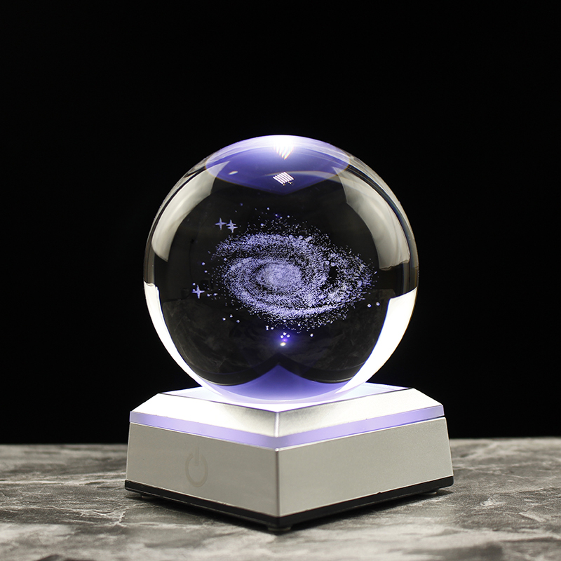 Astronomy 3D Solar System Ball Crystal Globe Planets Model Sphere Home Decoration Accessories
