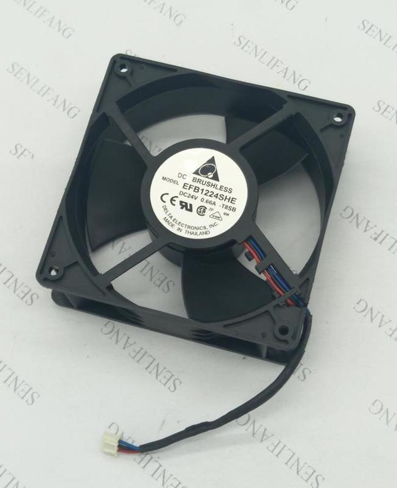 Free Shipping  EFB1224SHE 24V 0.66A 12cm12038 Inverter Cooling Fan