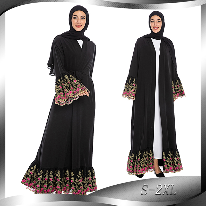Kimono Abaya Dubai Turkey Kaftan Hijab Muslim Dress Turkish Islamic Clothing Abayas For Women Robe Musulmane Baju Muslim Wanita