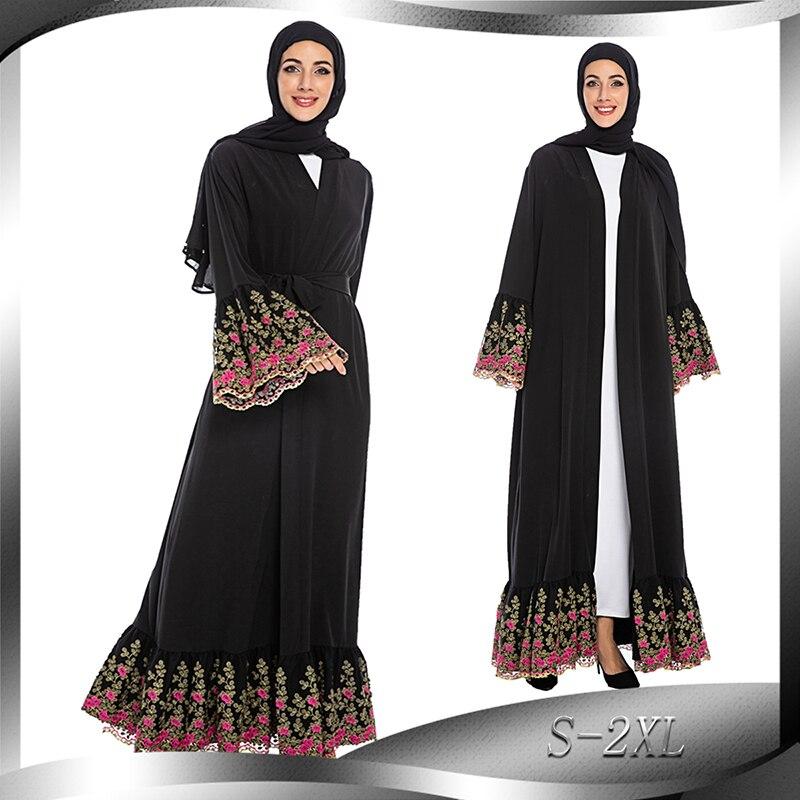 Kimono Abaya Dubai Turkey Kaftan Hijab Muslim Dress Turkish Islamic Clothing Abayas For Women Robe Musulmane Baju Muslim Wanita