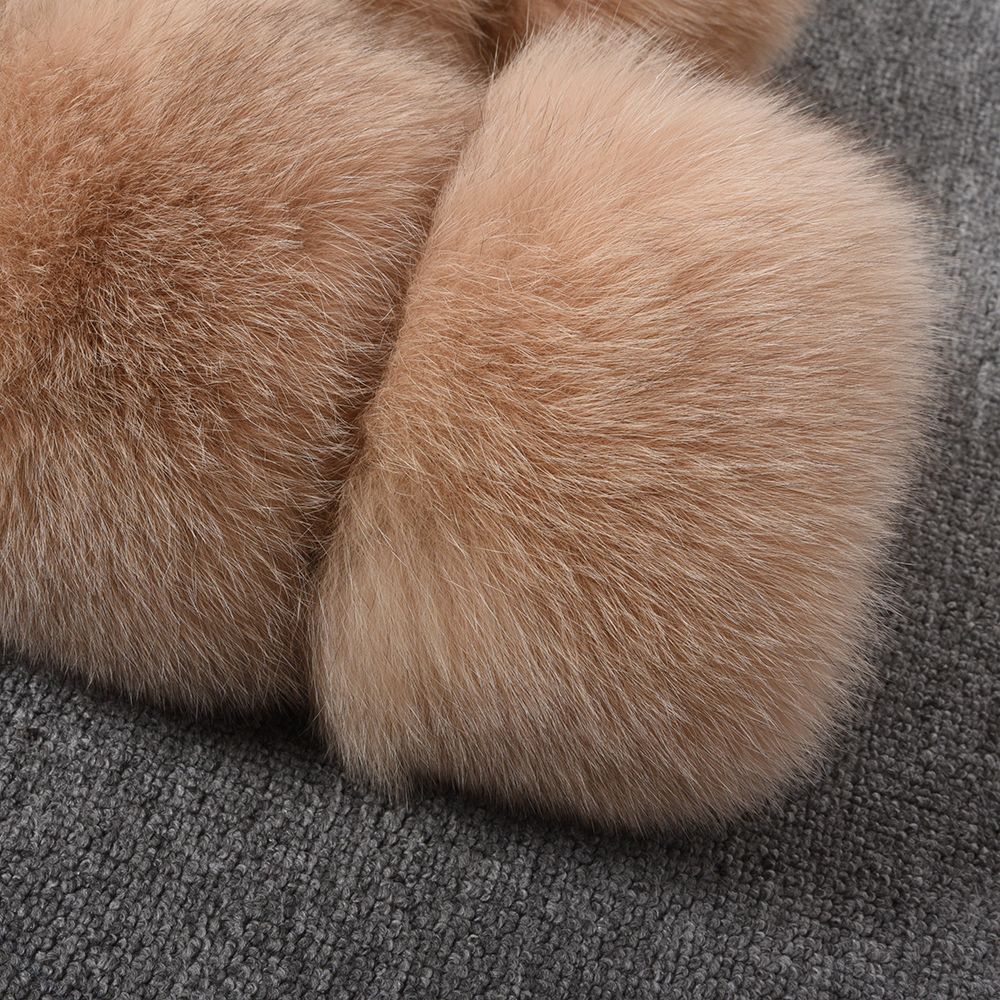 Image 5 - Women's Real Fox Fur Coat Winter Fashion Fur Jackets Thick Warm Fluffy High Quality  Outerwear Female Genuine Fur S1796-in Real Fur from Women's Clothing