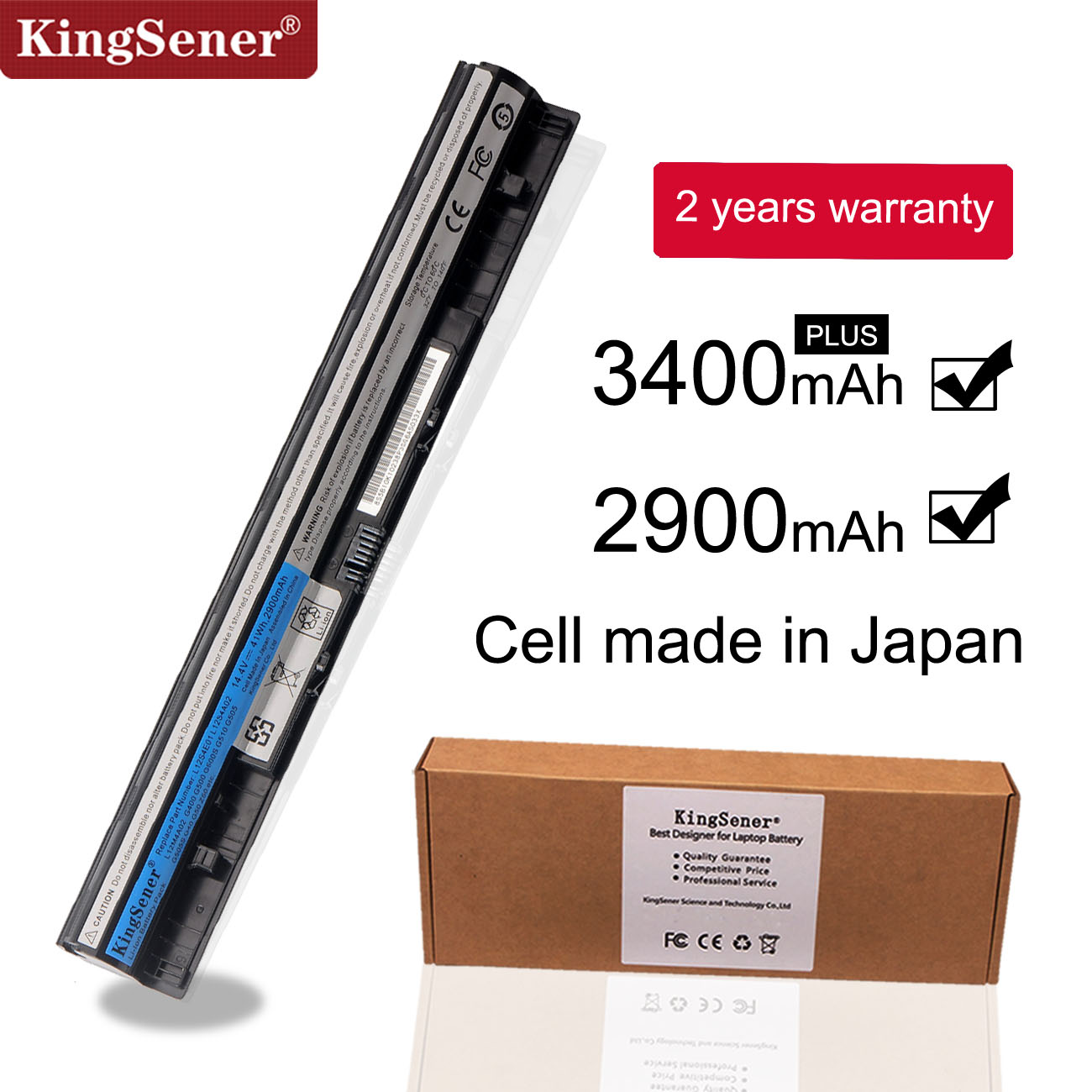 KingSener L12S4E01 Laptop Battery For Lenovo Z40 Z50 G40-45 G50-30 G50-70 G50-75 G50-80 G400S G500S L12M4E01 L12M4A02 L12S4A02
