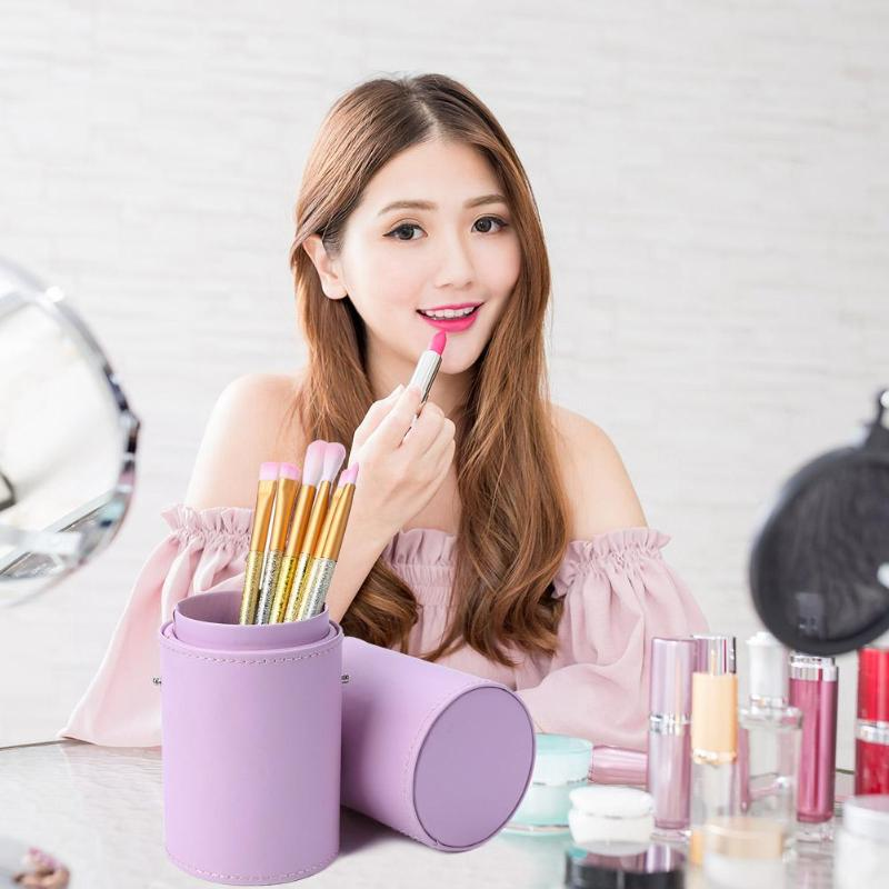 1pcs Casual Simple Makeup Brushes Holder Hot Selling Comfortable Personality Portable Travel Cosmetic Brush Soft Organizer Bag