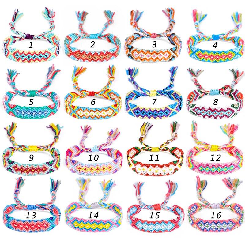 Fehame Retro Charm Bracelets Fashion Jewelry New Bohemian Rope Braided Bracelet For Women Men Femme Woven Friendship Bracelet