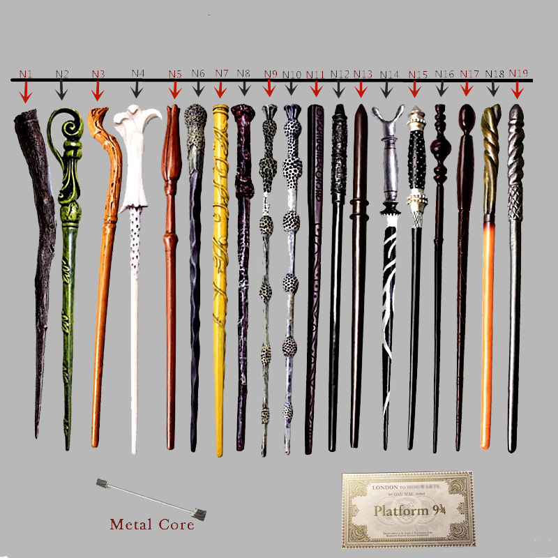 Magic Wands Hermione Snape Ginny Toys Colsplay Metal Iron Core Dumbledore Magical Wands Kid No Box with Gift image