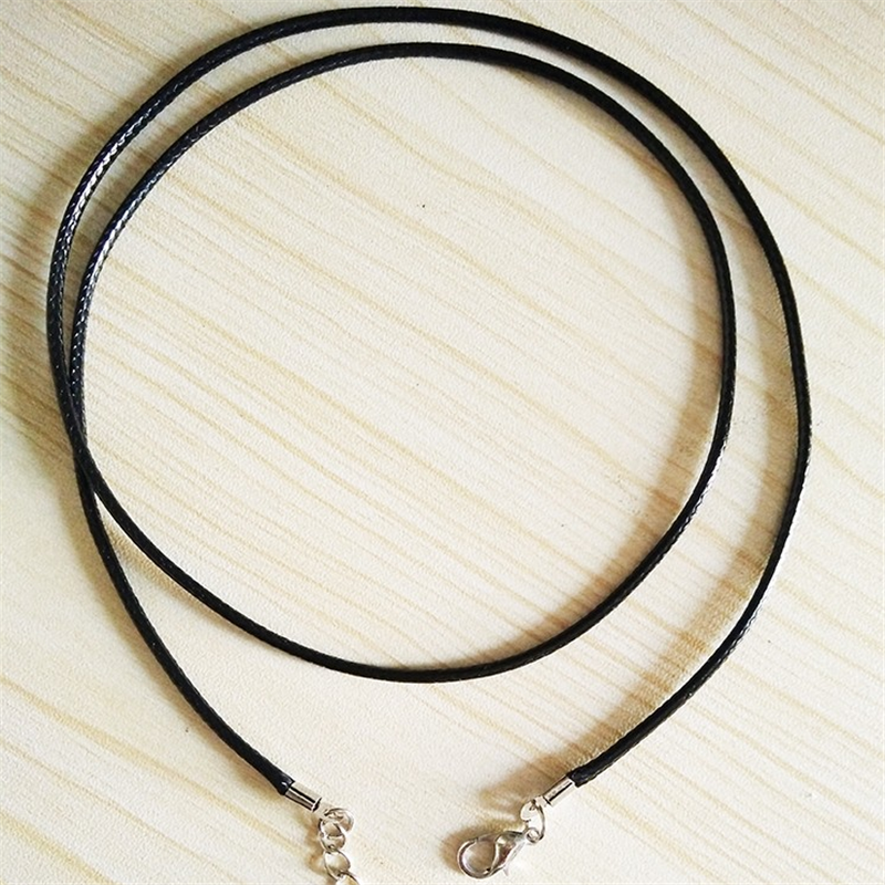 Hot Black Waxed Cotton Cord Waxed Thread Cord String Strap Necklace Rope For Jewelry Making