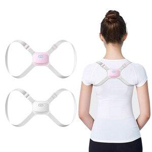 Image 1 - Corrector de detección inteligente de espalda entrenador de postura eléctrico soporteinteligente, cinturón de sujeción columna vertebral hombro madera corrección de postura