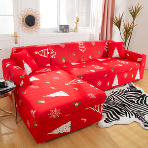 Christmas Style Sofa Cover Slipcovers Sectional Elastic Stretch Sofa Cover for Living Room Couch Cover L shape Armchair Cover