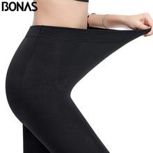 BONAS, женские зимние колготки больших размеров, высокие эластичные бархатные теплые колготки, сексуальные теплые леггинсы, женские теплые колготки высокого качества