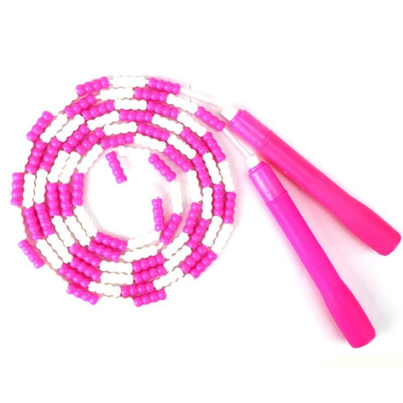 Высококачественная семейная Спортивная Скакалка, детская модная бамбуковая скакалка, нескользящая ручка, жесткая бусина, веревка для