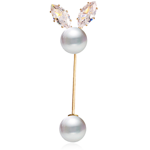 Image 5 - 2019 1 Piece Vintage Gold Brooch Pins Double Head Simulation Pearl Large Big Brooches For Women Wedding Jewelry Accessories