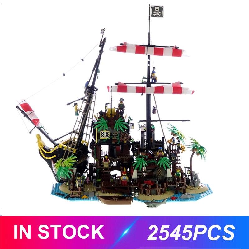 2020 New LepinBlocks 2545pcs Pirates of Barracuda Bay Compatible IDEA 21322 Building Bricks Educational Toys Birthday  Gifts
