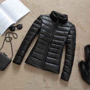 New Brand 90% White Duck Down Jacket Women Autumn Winter Warm Coat Lady Ultralight Duck Down Jacket Female Windproof Parka 9