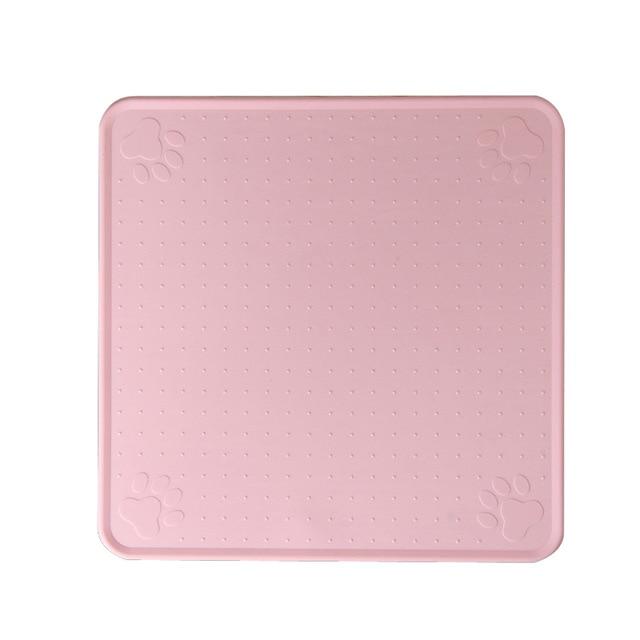 83 Pink-48*27cm Pet Dog Puppy Cat Feeding Mat Pad