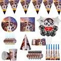Miccaihuitl Коко их вечерние поставки Мигель вечерние посуда набор «С Днем Рождения» декоративная бумага для вечеринок пластины чашки Хэллоуин ...