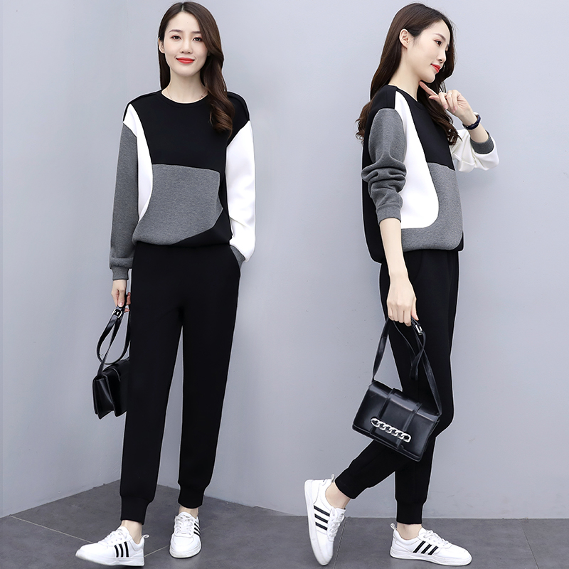 2 Piece Sets Womens Outfits Plus Size Clothing Two Piece Pants Set 2020 Fall Lounge Wear Korean Style Long Sleeve Tracksuit
