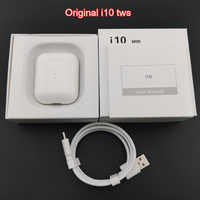 Original i10 TWS sans fil Bluetooth 5.0 écouteurs Auto allumer/éteindre la charge sans fil avec micro HD pour téléphone iPhone Android