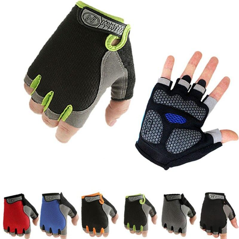 UK Women Men Sport Cycling Fitness GYM Workout Exercise Half Finger Gloves Bike