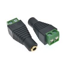 """10pcs 3.5 millimetri 1/8 """"jack 3.5 femmina Audio Microfono Mono Plug Connettore Adattatore Convertitore Vite Terminale di Trasporto saldatura Laminata Oro"""