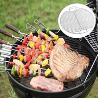 Round Nonstick Heat Stainless Steel Barbecue Mesh Grill Grid Net Camping Tool