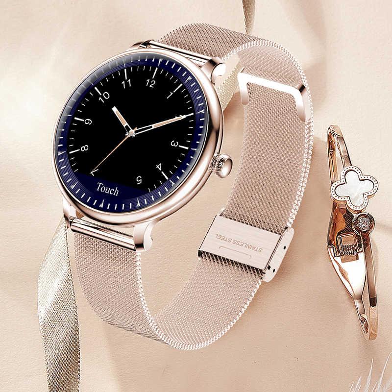 Frauen Smart Uhr Mode Sport Heart Rate Monitor Multi-Funktion Messung, Drehen Handgelenk Helle Bildschirm Wasserdichte Smartwatch