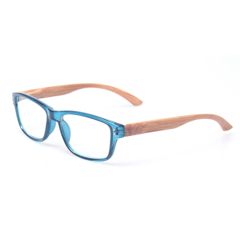 <font><b>Reading</b></font> <font><b>Glasses</b></font> Quality Fashion Readers Spring Hinge With Wood-look Temple Presbyopia <font><b>Glasses</b></font> <font><b>0.50</b></font> to 600 image