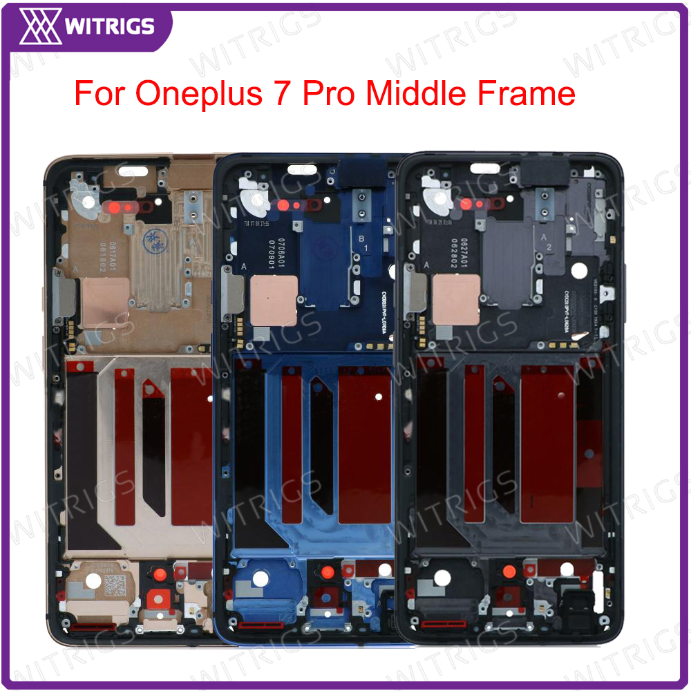 Witrigs For Oneplus 7 Pro Middle Frame Bezel LCD Supporting Housing Frame Replacement