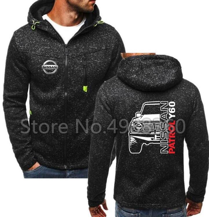 2019 Spring New Men's Nissan Car Logo Hoodies PATROL Nissan Offroad 4x4 Y60 1 Y61 Sweatshirts Men Cotton Jacket