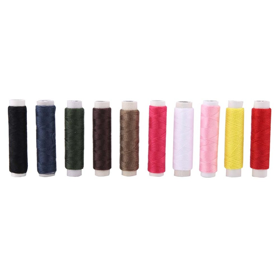 10 Colors Sewing Thread Portable Paper Tube Thread Sewing Lines Polyester Sewing Thread for Embroidery and Sewing Machine