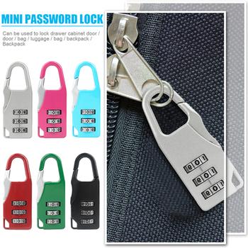 Torby kłódka do drzwi bagażowych 3 kombinacja cyfr wybierania tajny kod bezpieczeństwa hasło zamki Bookbag plecak antykradzieżowy zamek kłódka tanie i dobre opinie NONE CN (pochodzenie) Password Lock Lewa strona popchnięcie Kłódka na klucz 52x18x8mm 2 05x0 71x0 31in Hard plastic zinc alloy