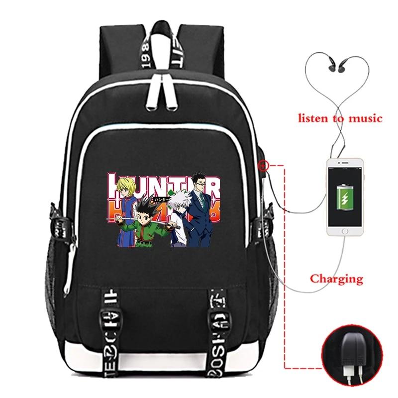 MxsSHIRT Hisoka Hunter Logo Backpack Laptop Bag Mens Woman Kids Sackpack Sports School Bag