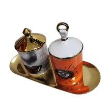 Женский подсвечник в виде черепа, банка для свечей ручной работы, Женский контейнер для хранения с лицом, керамическое ремесло, домашний дек...