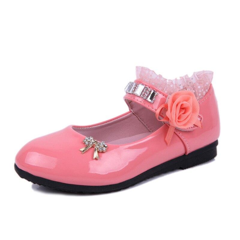 2020 New Children Elegant Princess PU Leather Sandals Kids Girls Wedding Dress Party Beaded Shoes For Girls 2