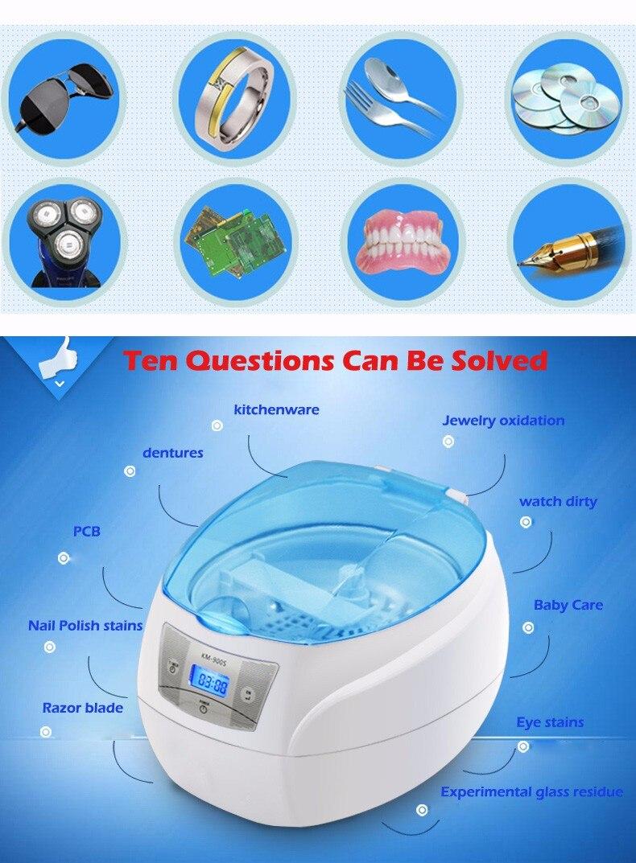 750ml ultra-sônica máquina de lavar roupa limpeza
