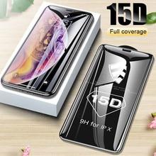 15D Verre Protecteur sur le Pour iPhone 6 7 8 plus XR X XS verre pleine couverture iPhone 11 12 Pro Max Protecteur Décran En Verre Trempé