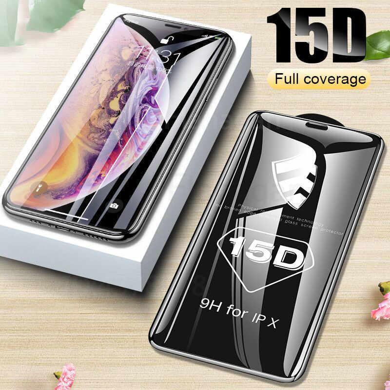Película de vidro iphone 6 6s 7 8 plus xr x xs, cobertura completa de vidro iphone protetor de tela para 11 pro max, vidro temperado